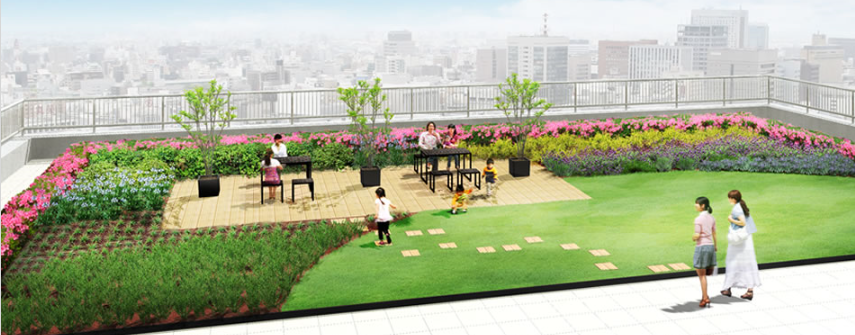 屋上緑化イメージ